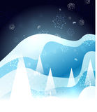 Blue snow winter Christmas glossy design Royalty Free Stock Images