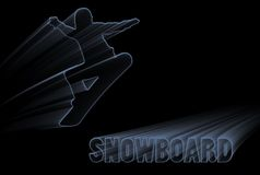 Blue Snowboard Stock Image