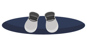 Blue snowboard icon Royalty Free Stock Image