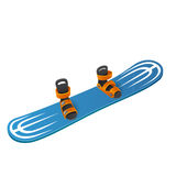 Blue snowboard on white background Royalty Free Stock Photography