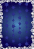 Blue snowcapped background. Background for your greetings card, vector illustration, see more at my portfolio, you can type your text Stock Image