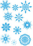 Blue snowfall Royalty Free Stock Photography