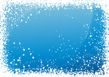 Blue snowfall background Royalty Free Stock Image