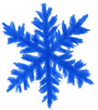 Blue snowflake. High resolution pencil drawn blue snowflake Stock Photography