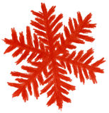 Blue snowflake. High resolution pencil drawn red snowflake Stock Photo