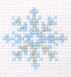 Blue snowflake Stock Image