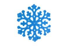 Blue snowflake. Is on a white background Stock Photos