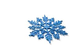 Blue snowflake Royalty Free Stock Images