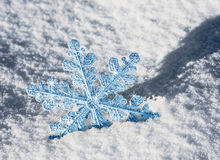 Blue snowflake Royalty Free Stock Image