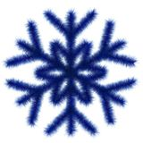 Blue snowflake 3d. Royalty Free Stock Photos