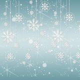 Blue Snowflake Background. Blue holiday background with snowflakes and stars Royalty Free Stock Photos