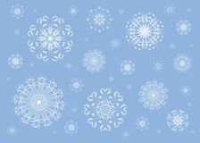 Blue snowflake background Royalty Free Stock Photo