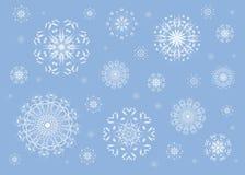 Blue snowflake background royalty free stock photo