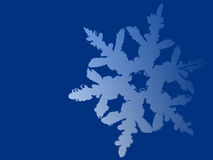 Blue snowflake background. Illustration of a snowflake on blue background with space for text Stock Photo