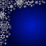 Blue snowflake background Stock Images