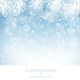 Blue Snowflake Background - Illustration Stock Photos