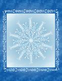 Blue Snowflake Christmas Card Royalty Free Stock Photos
