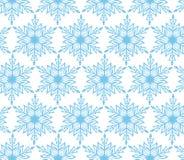 Blue snowflake Christmas seamless background Royalty Free Stock Photo