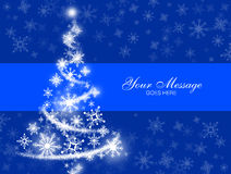 Blue Snowflake Christmas Tree Royalty Free Stock Photos