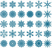 Blue Snowflake collections for you design Stock Photo