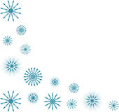 Blue snowflake corner Stock Photography