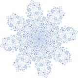 Snowflake, christmas, snow, winter, abstract, blue, star, decoration, holiday, illustration, ice, xmas, cold, white, pattern, snow. Blue snowflake crystal for Royalty Free Stock Images