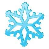 Blue snowflake. 3d symbol. Vector illustration isolated on white background stock illustration