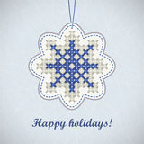 Blue snowflake Royalty Free Stock Photo