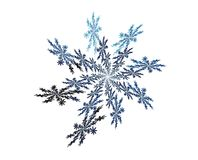 Blue snowflake fractal Stock Images