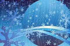 Blue Snowflake Stock Images