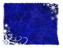 Blue Snowflake Grunge Background Royalty Free Stock Photo
