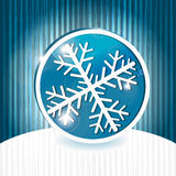 Blue snowflake icon Royalty Free Stock Image