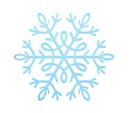 Blue snowflake. Royalty Free Stock Images
