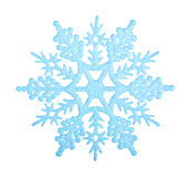 Blue snowflake. Blue snowflake isolated on white background royalty free stock photography