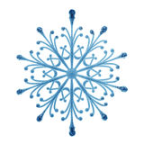 Blue snowflake isolated Stock Photo