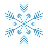 Blue snowflake isolated on white background stock illustration