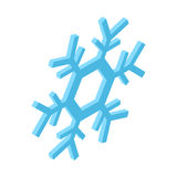 Blue snowflake isometric icon Stock Image