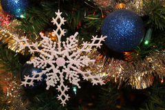Blue and Snowflake Stock Image