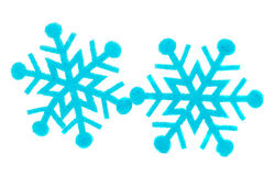 Blue snowflake made of felt Royalty Free Stock Photography