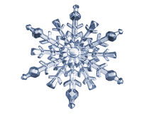 Blue Snowflake made of glass Stock Images