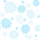 Blue snowflake mandala pattern. Royalty Free Stock Photos