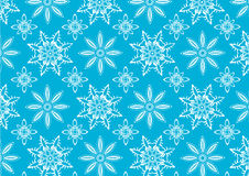 Blue snowflake pattern Stock Photo