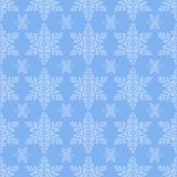 Blue Snowflake Seamless Royalty Free Stock Photos