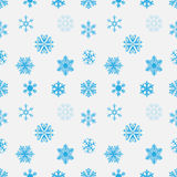 Blue snowflake seamless background. Vector. Eps10 Stock Image