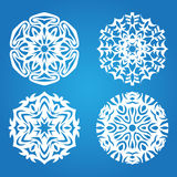 Blue snowflake set Stock Images