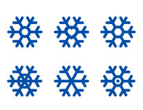 Blue snowflake set Stock Image