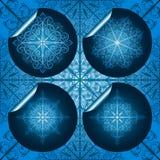 blue snowflake stickers Stock Photos