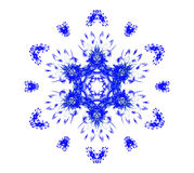 Blue snowflake on white. 3D rendered beautiful blue snowflake isolated on white background Stock Images