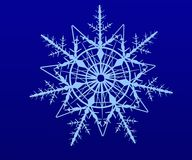 Blue snowflake  on a white background. Illustration of o Stock Image