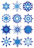 Blue snowflakes. Group blue snowflakes illustration vector illustration